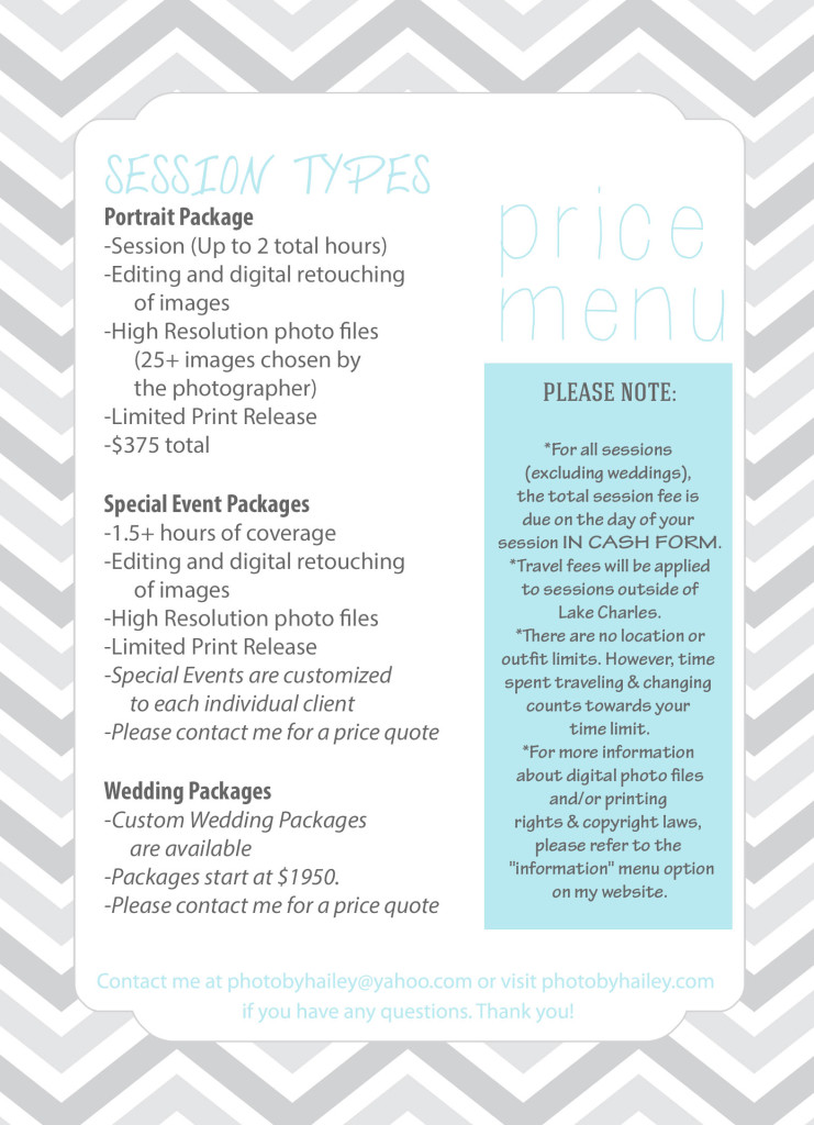 SITE PRICE MENU